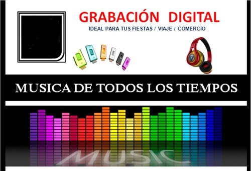 grabaciones digitales música mp3 pendrive cd 5ameri cada cd