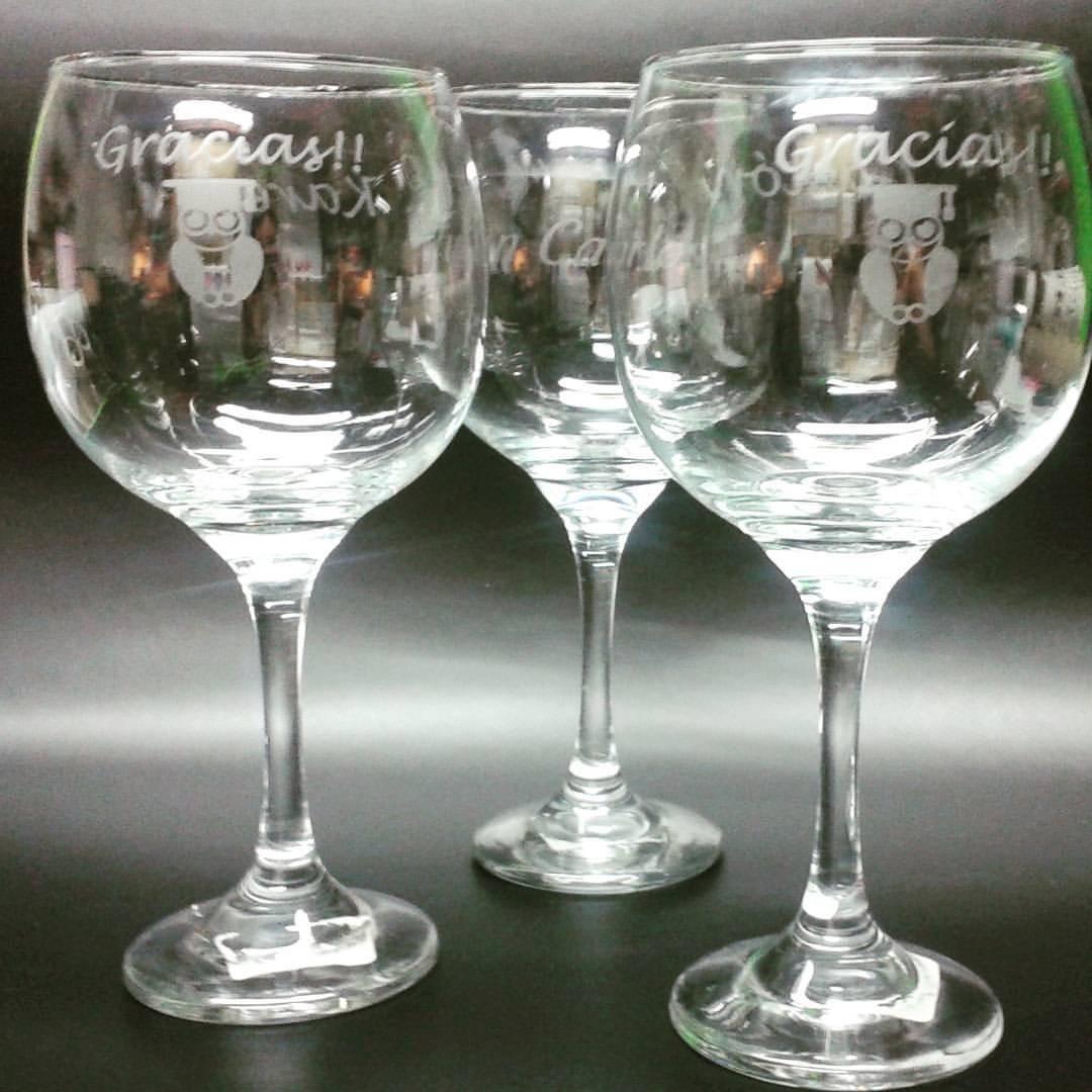 Grabado de vidrio para vasos copas 1 unidad vinilo for Vasos copas vidrio
