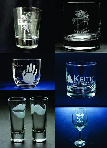 grabado laser copas de vidrio
