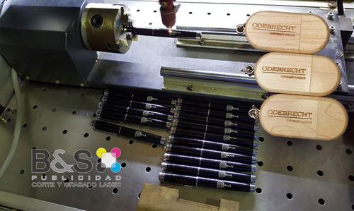 grabado laser - corte laser - impresion full color - usb