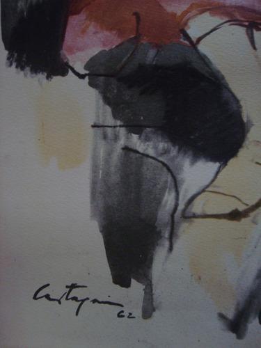 grabado litografia j c castagnino 1962 34x52 serigrafia arte