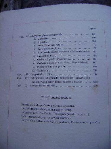 grabado:compendio de su historia -tratado de este arte /1914