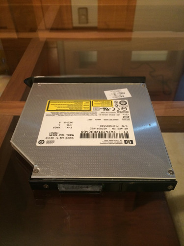 grabador de dvd hp lightscribe para notebook hp tx1000