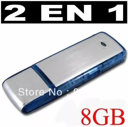 grabador de voz secreto espia audio pen drive usb 8gb