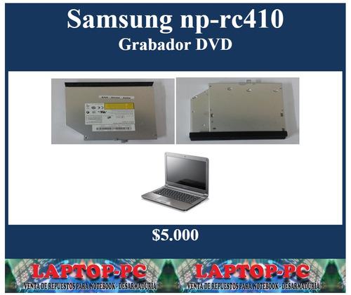 grabador dvd samsung np-rc410