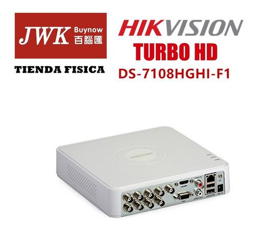 grabador hikvision turbo hd dvr - 8 canales jwk vision