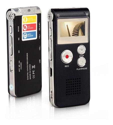 grabador periodista voz digital microfono oculto 8gb + kit