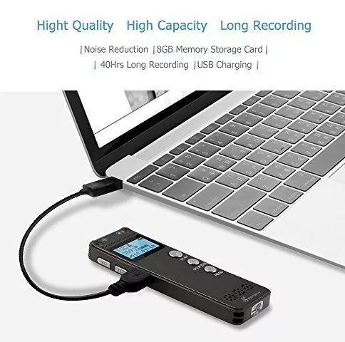grabador voz audio digital mp3 espia 8gb profesional player