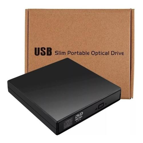 grabador y lector de cd/dvd externo slim portable usb 2.0