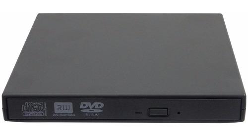 grabador y lector de cd/dvd externo usb 2.0 slim portable