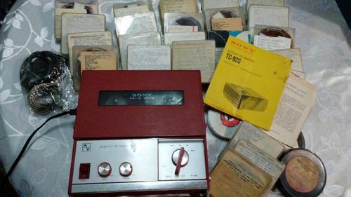 grabador y reproductor tipo geloso marca sony a cinta. c/mic