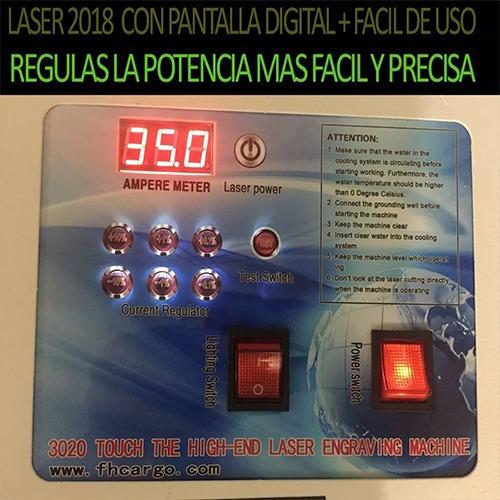 grabadora cortadora laser 30x20 40w sistema antiflama