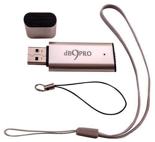 grabadora db9pro audio recorder [silver] - 8gb / 96 hrs