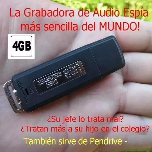 grabadora de audio espia, forma de pendrive - 4gb