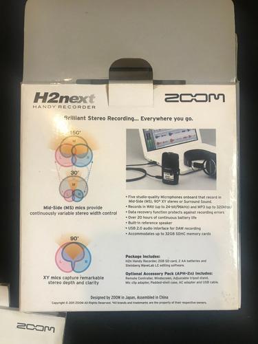 grabadora de mano  marca zoom  h2n sin uso nueva en caja