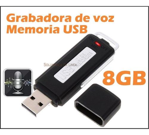 grabadora de voz audio 8 gb forma de usb entrega inmediata