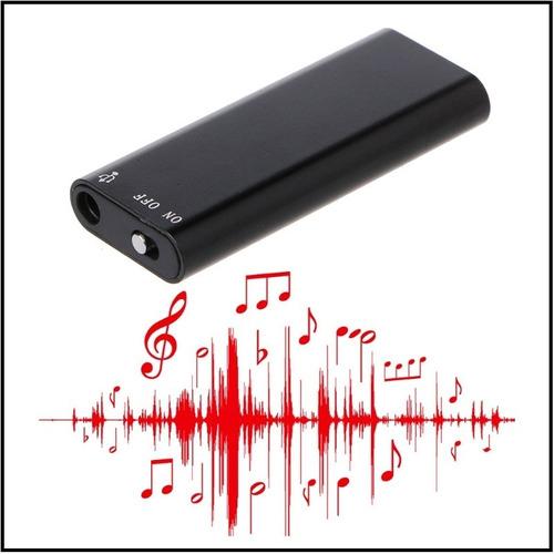 grabadora de voz audio 8gb reproductor mp3 entrega inmediata