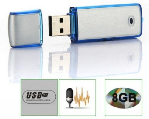 grabadora de voz usb 8 gb 100 horas espia reportero 2 en 1