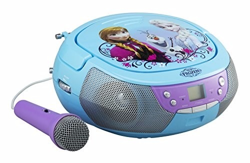 grabadora disney frozen radio fm cd microfono e. Black Bedroom Furniture Sets. Home Design Ideas