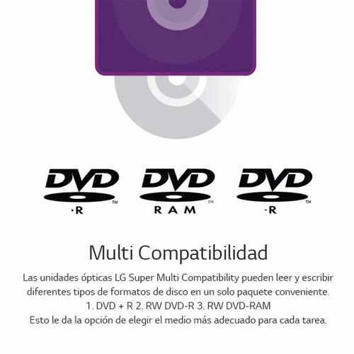 grabadora dvd cd lg gh24nsc0 dvdrw cd sata 24x dual layer
