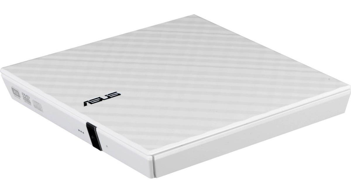 LECTOGRABADORA EXTERNA DVD-RW ASUS  24X  SDRW-08D2S-U  ULTRA SLIM WHITE USB