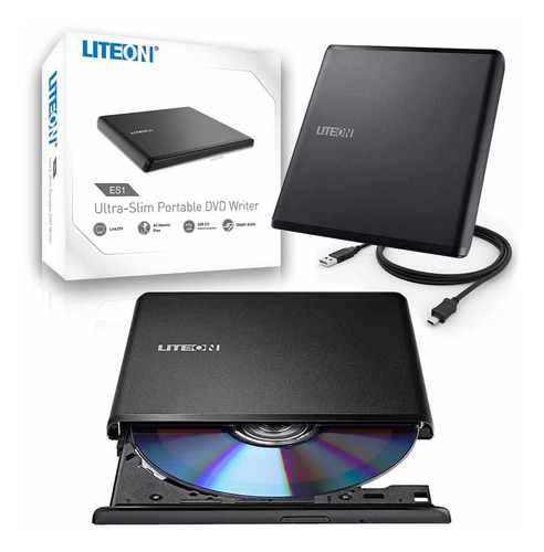 grabadora lectora dvd cd liteon dvd externo slim usb 8x es1