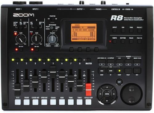 grabadora multipistas controlador e interface r8 zoom