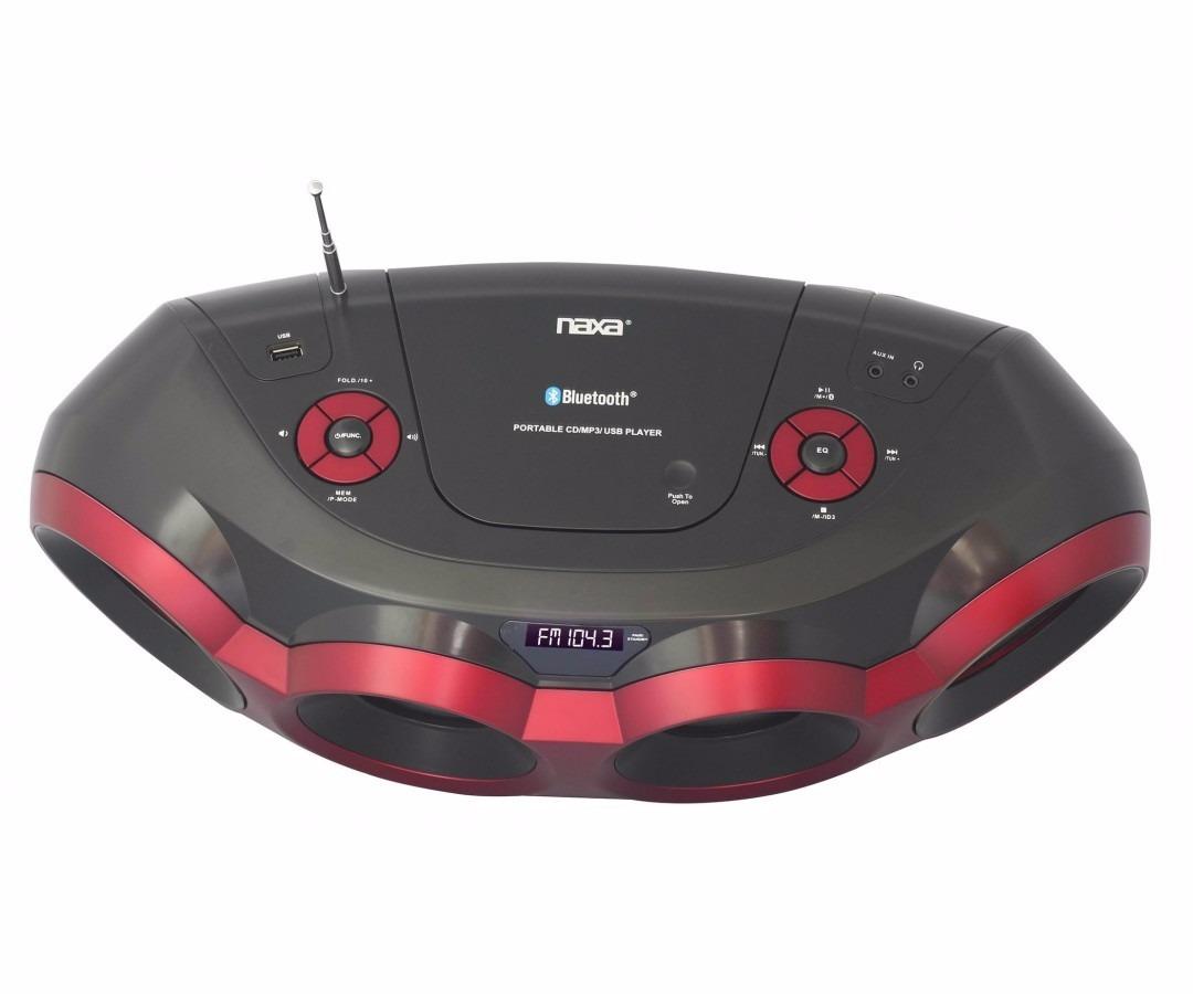 Grabadora Portátil Naxa Npb-266 Cd Boombox Bluetooth Mp3 ...