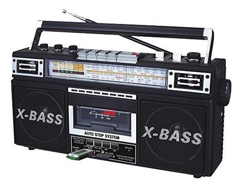 grabadora qfx j-22ubk rerun radio y cassette a mp3