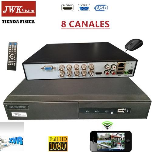 grabadores dvr 8 canales seguridad p2p cctv 1080p jwk vision