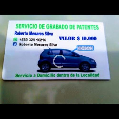 grabados de patentes en automóvil