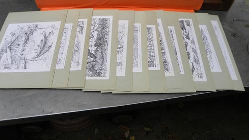 grabados   numerados y firmados roura oxandanberro