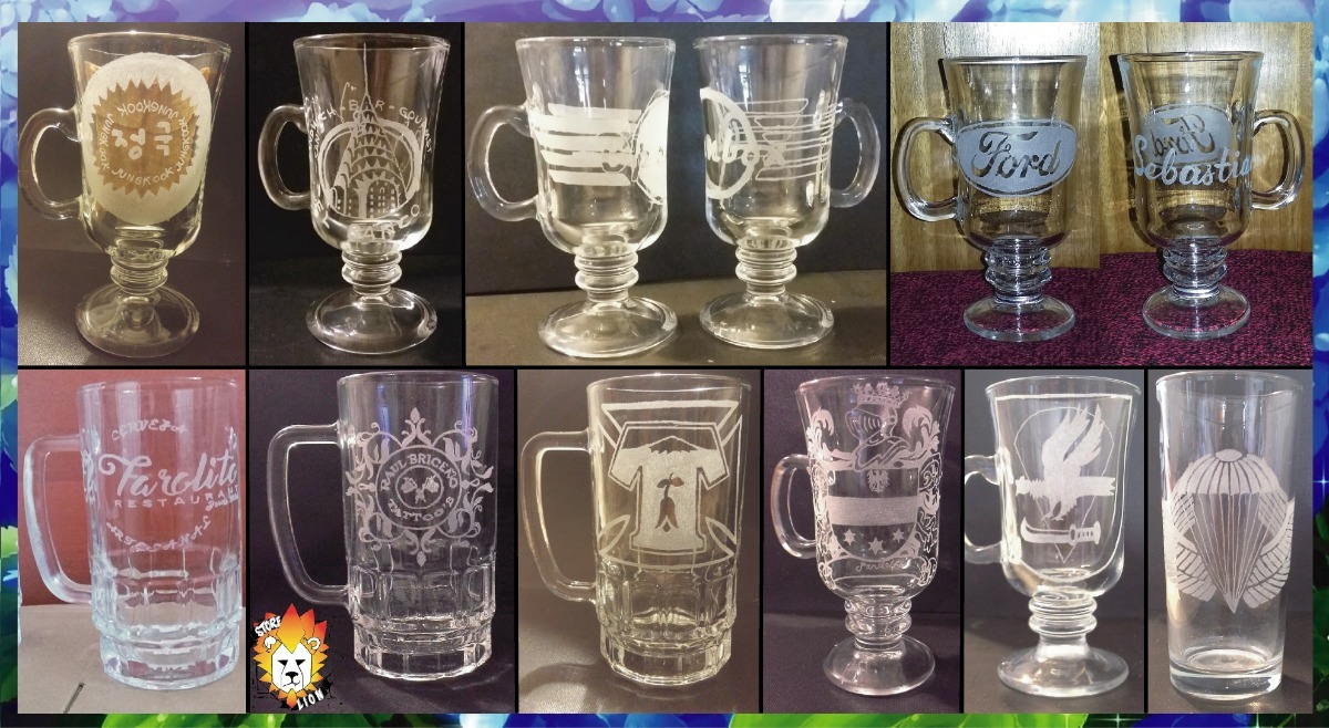 Grabados vidrio vaso taza shopero cervesa copas etc for Vasos copas vidrio