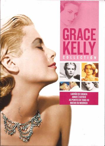 grace kelly - coleção com 4 dvds - novo - lacrado