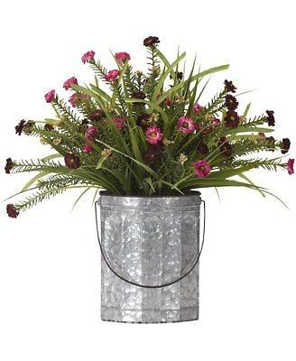 Gracie Robles Flores Silvestres Arreglo Floral En Cubeta De