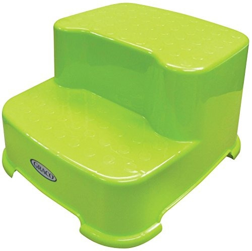 graco 2 step transitions step stool, verde