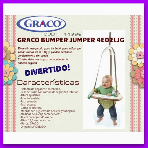 graco bumper jumper 4e02ljg tu bebe seguro y super divertido