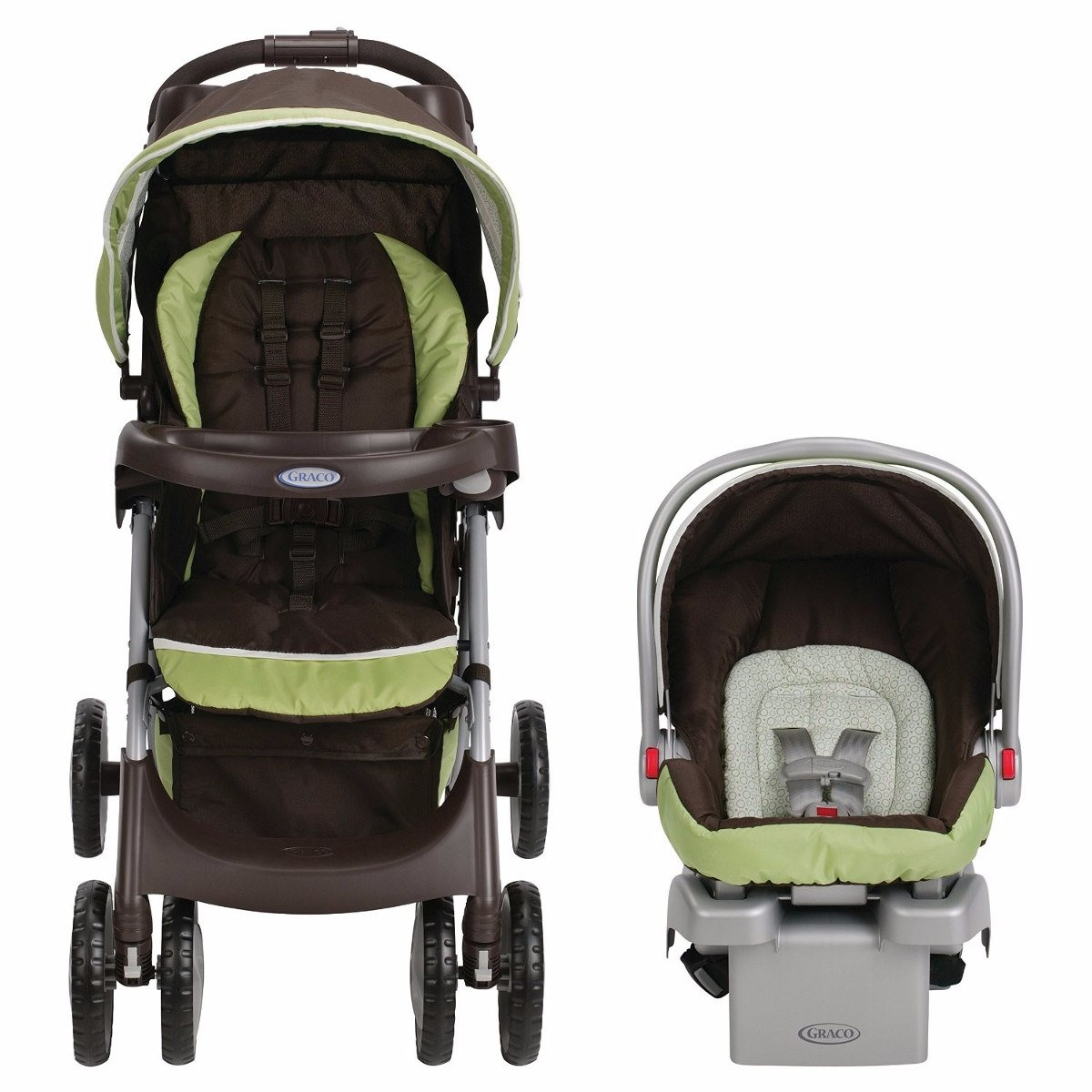 Graco comfy cruiser go green coche silla carro porta - Silla bebe coche ...