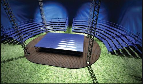 gradas circulares escenarios palcos tribunas vallas tarimas