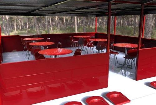 gradas con terraza o vip para buffet o reservado