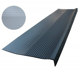 gradas de goma negra 120 cm/plasticosmorija