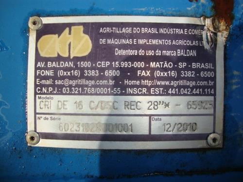 grade aradora intermediária 16x28 gtcr  baldan