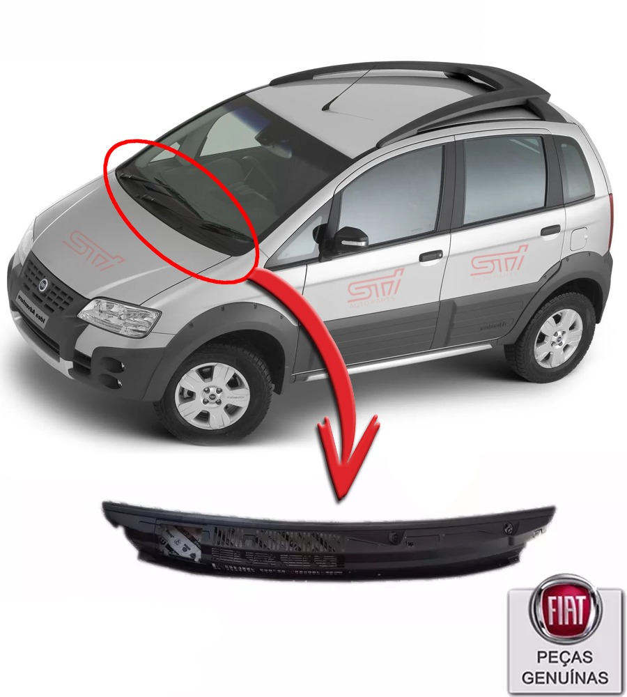 grade churrasqueira para-brisa fiat idea adventure 2007 - r$ 280