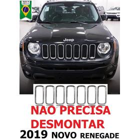 Grade Cromada Renegade Jeep Arcos Friso Moldura 2019 Pcd Lo