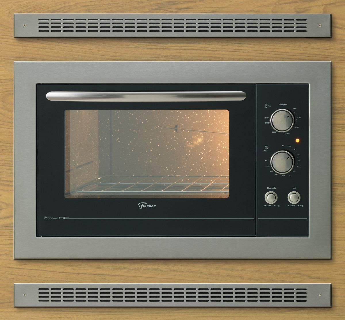 Grade De Ventilação Inox Para Forno De Embutir - Par 66 Cm