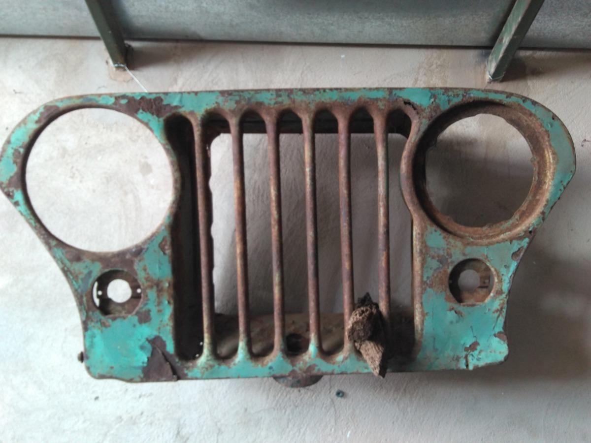 Grade Dianteira Jeep Willys Antiga Original Decoracao Radio R