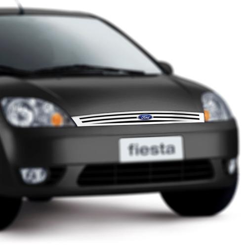 grade ford fiesta 2003/2007 + friso porta malas em aço inox