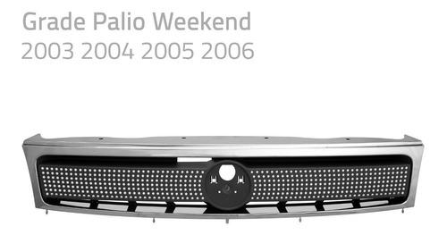 grade palio, weekend 2003 2004 2005 2006 com filete cromado