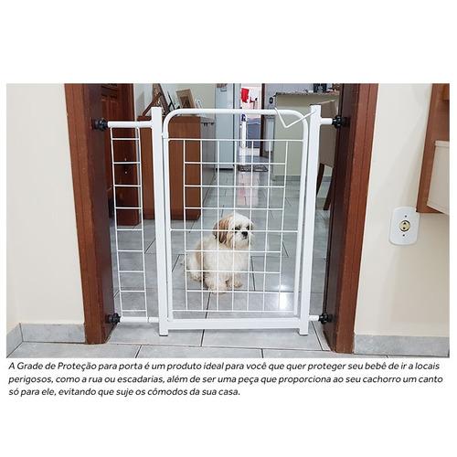 grade porta portão pet criança bebe cão vão 70cm a 84cm