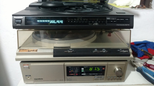 gradiente ds 20 toca disco s126 e magaine 5 cds panasonic